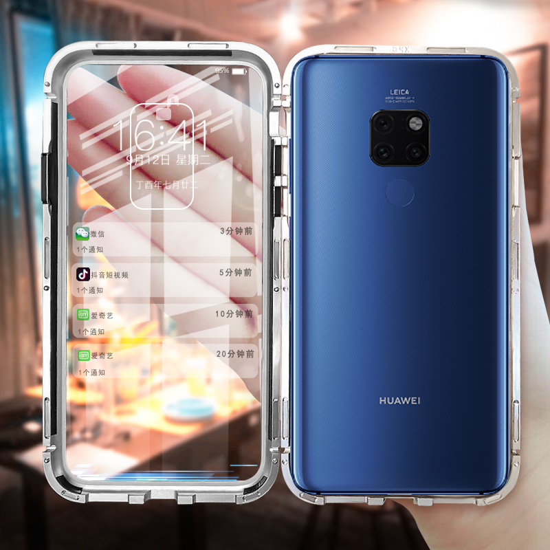 Magnetic Adsorption <font><b>cases</b></font> on for <font><b>Huawei</b></font> <font><b>mate</b></font> <font><b>20</b></font> pro <font><b>flip</b></font> <font><b>case</b></font> for <font><b>huawei</b></font> <font><b>mate</b></font> <font><b>20</b></font> <font><b>lite</b></font> light covers luxury silicone glass bumper image