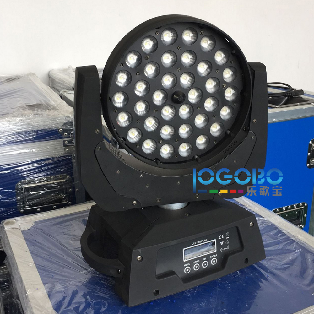 Бесплатная доставка 4 единицы 10Wx36 светодиодный прожектор rgbw 4в1 цветная движущаяся головка омывающий свет сценическое оборудование освещен