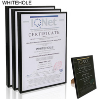 3Pcs/Set Poster Frame Metal Certificate Photo Frame A4 21x30cm Pleixglass Inside Black Silver Desktop Picture Frame