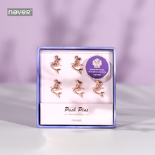 Never Mermaid Shaped Push Pins Thumbtack Pin Pushpins for Soft Corkboard Rose Gold Decor Office Accesorios Escolares Stationery