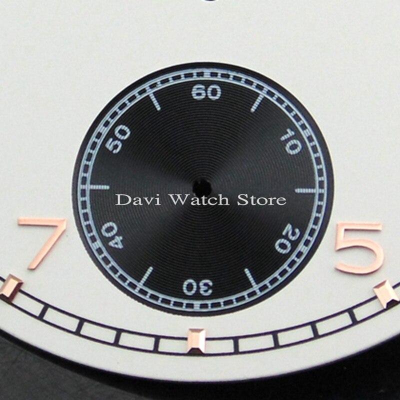 1cc042aeea9 Corgeut 38.9mm mostrador do relógio Branco ajuste eta 6498 Sea gull st36  movimento mens watch faces em Assistir Rostos de Relógios no AliExpress.com  ...