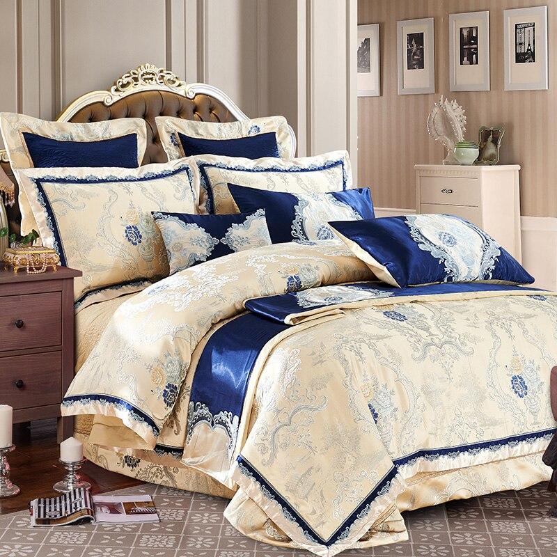 Heißer verkauf 100% baumwolle Luxus Bettwäsche Set Neue Designer Bettwäsche sets Bettlaken Jacquard Bettwäsche Sets Duvet Abdeckung bettwäsche-in Bettwäsche-Sets aus Heim und Garten bei  Gruppe 1