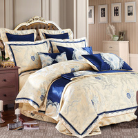 Hot sale 100%cotton Luxury Bedding Set New Designer Bedding Sets Bed Sheet Jacquard Bedding Sets Duvet Cover bedclothes