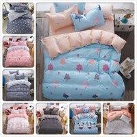 New fashion cartoon bedding sets Watermelon banana fruit bed sheet duvet cover pillowcase soft comfortable king Queen Full size