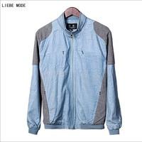 Men Spring Summer Autumn Stand Collar Linen Bomber Jackets Men Summer Slim Flax Jacket and Coat Plus Size 6XL Blue Green Grey