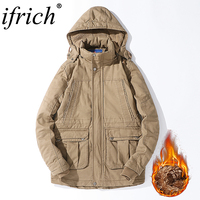 41b5e5cf0 Mens Casual Hooded Jacket Winter IFRICH Brand Military Men Waterproof  Clothes Men S Windbreaker Coat Male