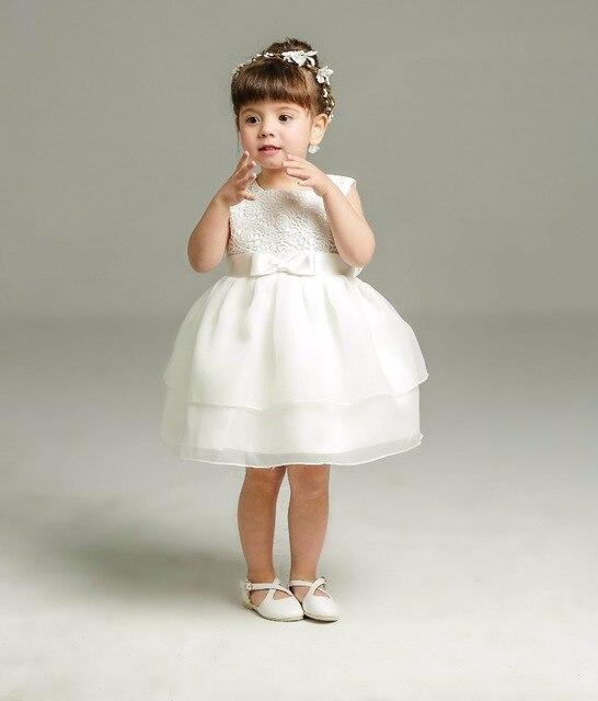 eafbbf37eda Date été ivoire bébé fille 1 an robe d anniversaire sans manches robe de  baptême