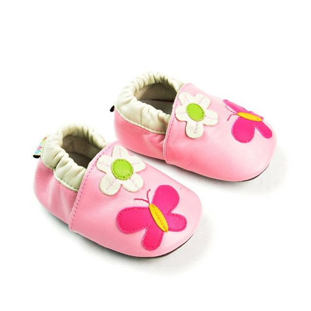 New pink Baby Genuine Leather Moccasin Flower Baby Girl Shoe Soft Sole Infant Toddler Newborn Baby Shoe Pre-walker Free Shipping
