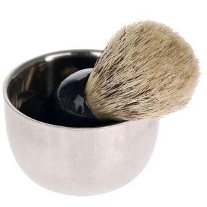 Image 5 - Shaving Brush Set  Shaving Razor Badger Hair Shaving Brush With Stand Holder Beard Shaving Kit Soap Bowl Cleaning Brush