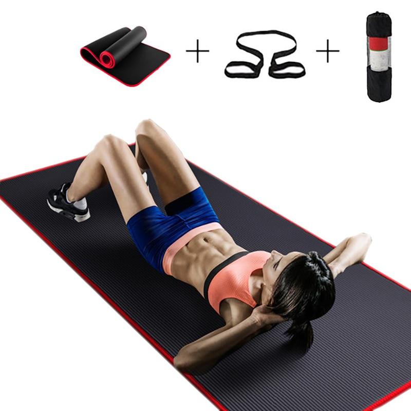 10mm Non-slip NBR Tapis De Yoga Pour Fitness Naturel Pilates Gymnastique Sport Tapis De Yoga Exercice Coussinets Épais Tear -résistant Tapis De Massage