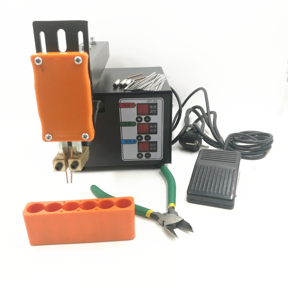 Battery Spot welder Machine 18650 Lithium Battery spot welding / Welding Machine 110V/220V 3KW With Welding Arm Battery Fixture-in Spot Welders from Tools    1