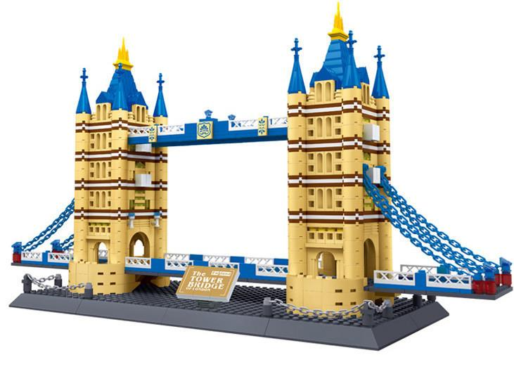 2018 New Famous Architecture series The Tower Bridge 3D Model Building Blocks Classic Toys Compatible Standard brick size loz mini diamond block world famous architecture financial center swfc shangha china city nanoblock model brick educational toys