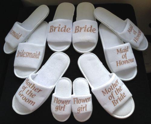personalize glitter Wedding Slippers