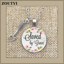 Hot sale GRACE NECKLACE, glamour alloy glass pendant necklace, gift for her, faithful charm survivor.