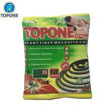 Top One # Nonbreakable natural plant  Fragrant fiber mosquito coil killer 10 coils/bag Non-toxic smokeless