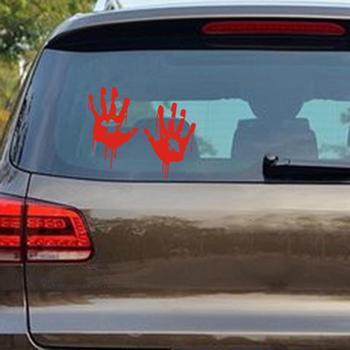 Waterproof Zombie Bloody Hands Print Vehicle Car Rear Window Sticker Decal Decor car sticker 1