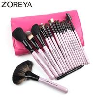 ZOREYA Brand Natural Kolinsky Hair Professional Cosmetic Tool For Women Makeup Brushes 18pieces Set Maquiagem Powder
