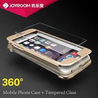Dla iphone 6 6s armour case z hartowanego szkła ekran film mocno PC 3w1 Przednia Okładka + Powrót Tarcza Full Body Protect 5 Kolory