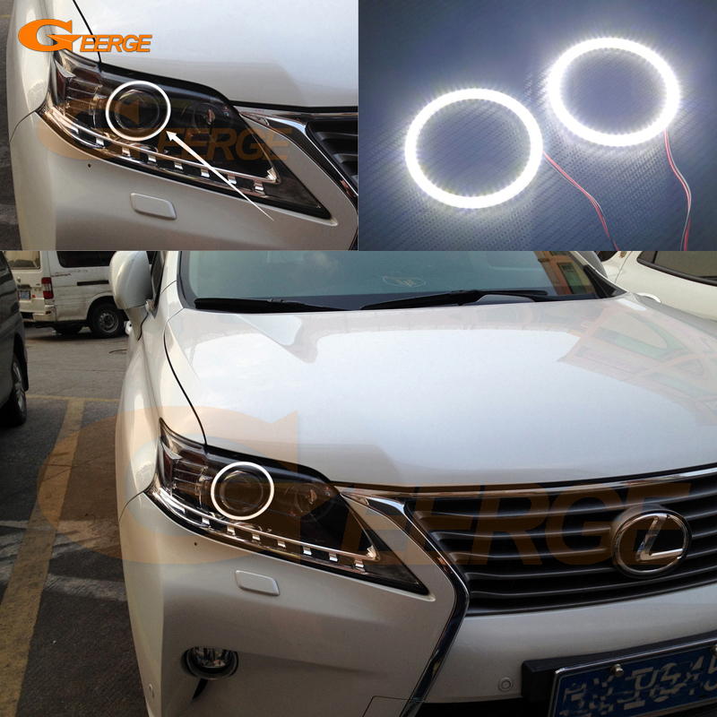 For LEXUS RX350 RX450H RX270 2013 2014 2015 Excellent led Angel Eyes Ultra bright illumination smd led Angel Eyes Halo Ring kit for lexus rx450h rx350 rx270 2010 2011 2012 excellent led angel eyes ultra bright illumination smd led angel eyes halo ring kit