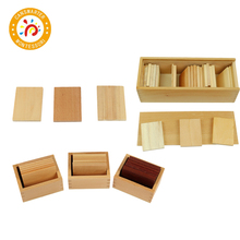 Montessori Material Wooden Toy Teaching Aids Baric Tablets with Box Sensory
