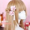 Принцесса сладкий лолита Шпилька Ручной цветы моделирования шпилька кисточка оригинал волос голову украшения эксклюзивная ручная система GSH066
