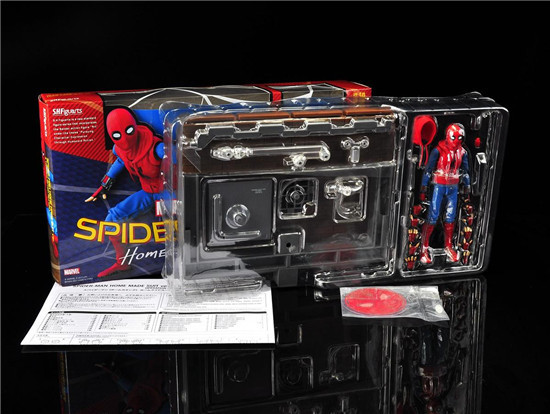 New Marvel Comics Animation Movies Super Hero Spider Man Homecoming Series Spider Woman 15cm SHF Action Figure in Action Toy Figures from Toys Hobbies