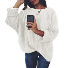 Women Knitted Thin Sweater O-neck Solid Black White Female Autumn Jumper Long Sleeve Pullover
