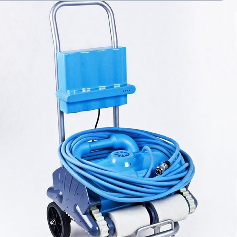 Wall Climbing and Remote Control Smart Swimming Pool Cleaner , Auto Pool Cleaner , Robotic Pool Cleaner With Caddy Cart цена