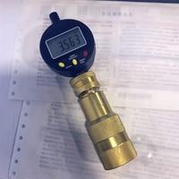 Common rail injector Residual air gap measurement tool seat with micrometer gauge for CAT C7C9, common rail injector tool