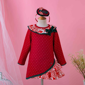 Pettigirl New Baby Girls Christmas Red Dress Palace Retro Style Children Dresses Party Princess Kids Girl Clothes G-DMGD908-999 girl