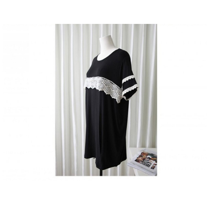 Summer Black Maternity Breast Feeding Dress Pregnant Women Nursing Wear Clothing Pregnancy Cotton Lace Lactate Vestidos 2017
