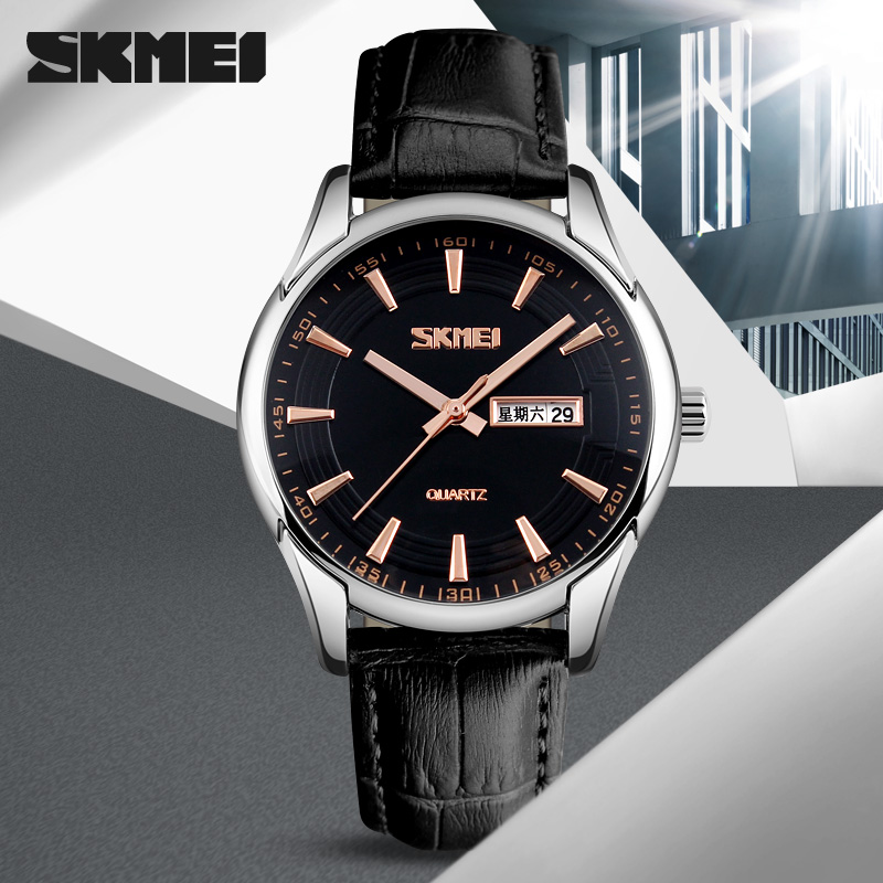 Watches Men SKMEI brand Analog Quartz Watch Men full steel Watches Waterproof Fashion Casual Sports Watches Man military Clock skmei new fashion men sports watches men quartz analog led digital clock man military 50m waterproof watch male watch g shock
