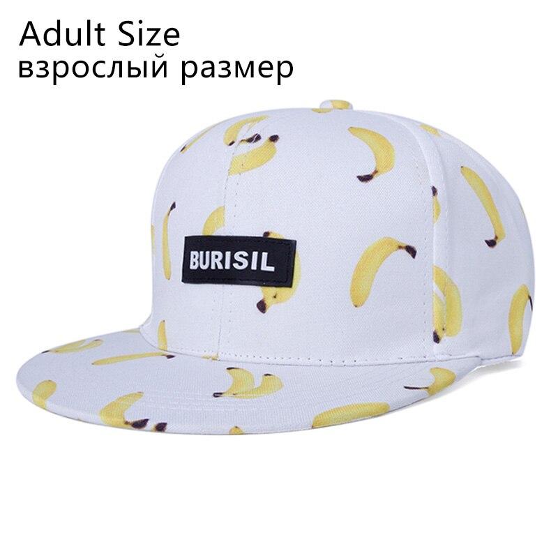Cool!2017 Trend Fruit Print Cap Adult/Kids Snapback Caps Hip Hop Hat For Children Summer Caps For Girls Baseball Hat For Boys