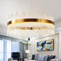 new arrival modern chandelier LED lights AC110V 220V gold dinning room living room hanglamp