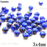 Isywaka 3X4mm 30,000pcs Rondelle Austria faceted Crystal Glass Beads Loose Spacer Round Beads for Jewelry Making NO.15