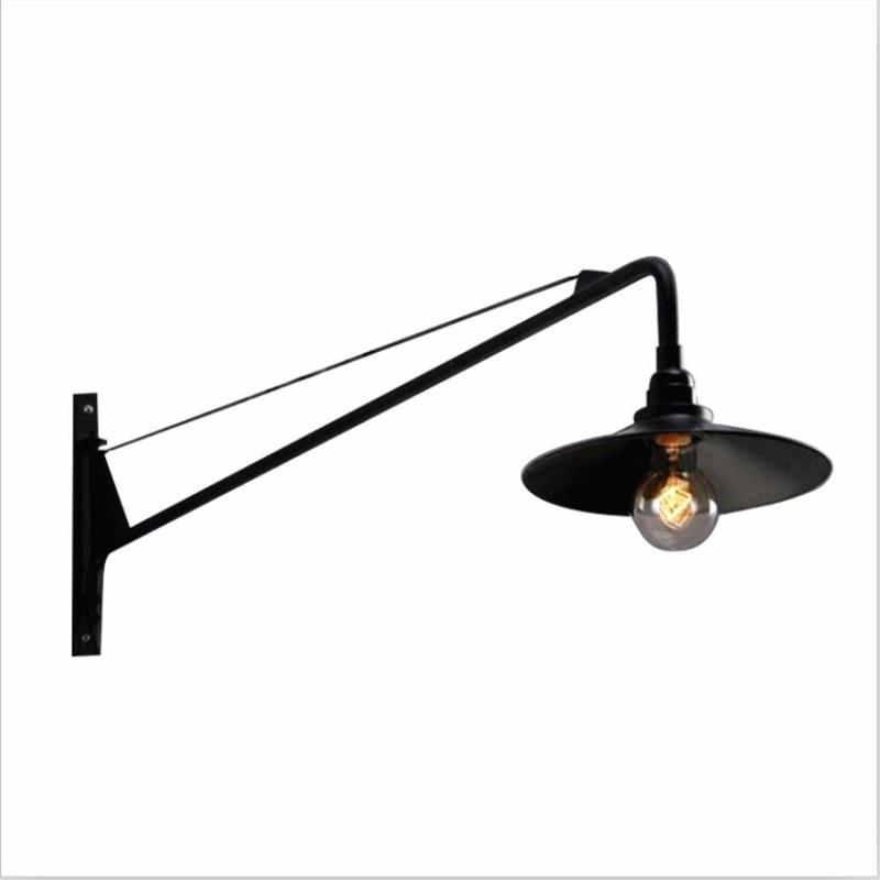 Vintage De Lumière Lit Américaine Murale Luminaire Applique Chevet Peut Industrielle Bras Loft Lampe Long Chambre bf6y7g