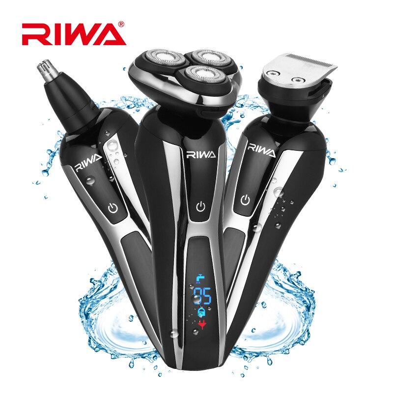 3in1 моющиеся Перезаряжаемые электробритва Triple Blade Электрическая Бритва носа и волос триммер Для мужчин FaceCare 3D плавающей 50