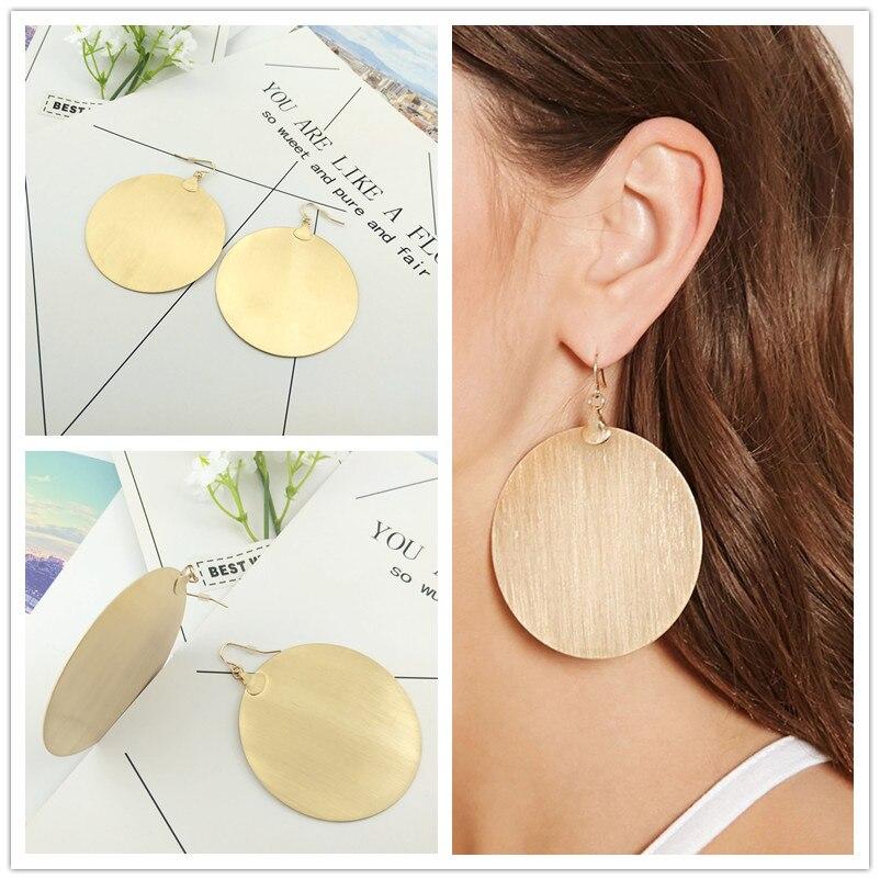 NADEEM Big Brand Hip Hop Metal Hoop Earrings Punk Gold Color Hot Sale Boho Big Circle Earrings For Women Pendiente Jewelry