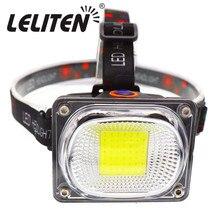 Mini lanterna de cabeça portátil, cob, led, carregamento usb, uso externo, acampamento, pesca, farol, manutenção do trabalho, lanterna