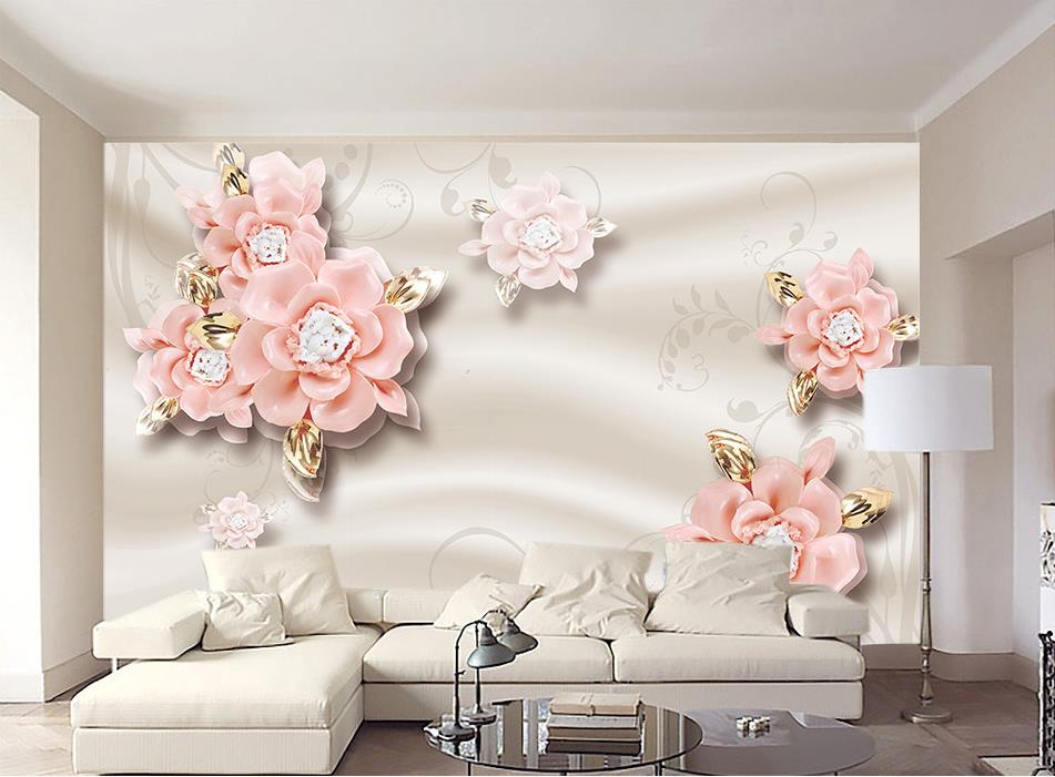 Modern Papel de parede reliefs Baclground simple Stereoscopic Photo Wallpaper Mural Jewelry flowers Sofa TV Bedroom Wall large mural papel de parede european nostalgia abstract flower and bird wallpaper living room sofa tv wall bedroom 3d wallpaper