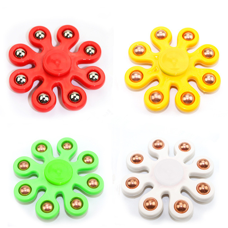 Colorful Eight Bead Fidget Spinner Hand Spinners Toy For Kids Edc Tri-spinner Fidget Antistress Toys