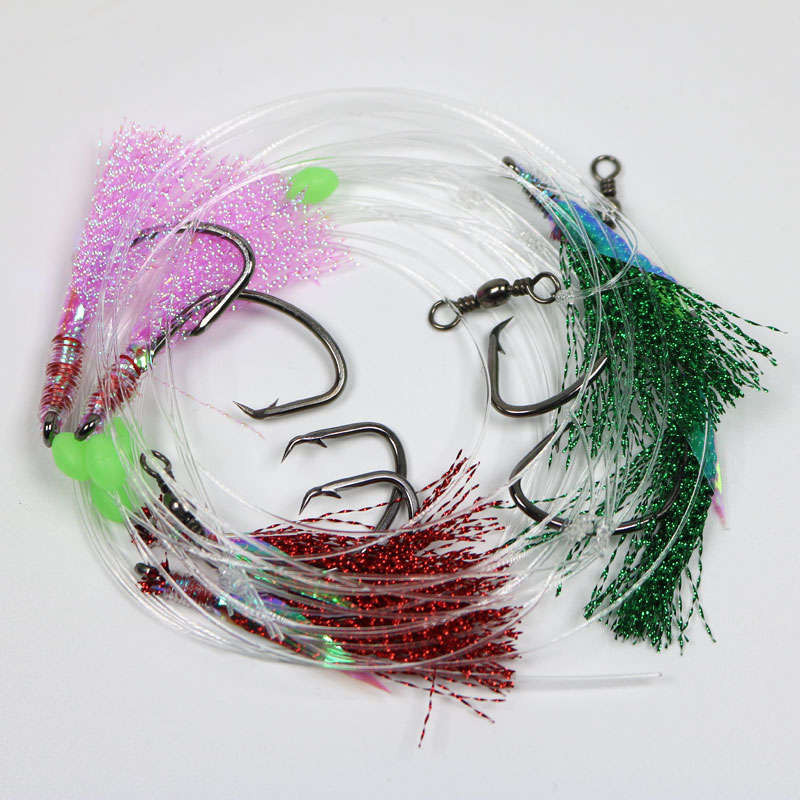 2Bags 1//0 3//0 5//0 6//0 7//0 8//0 Sabiki Rigs Sea Fishing Rigs Flasher Rig Each