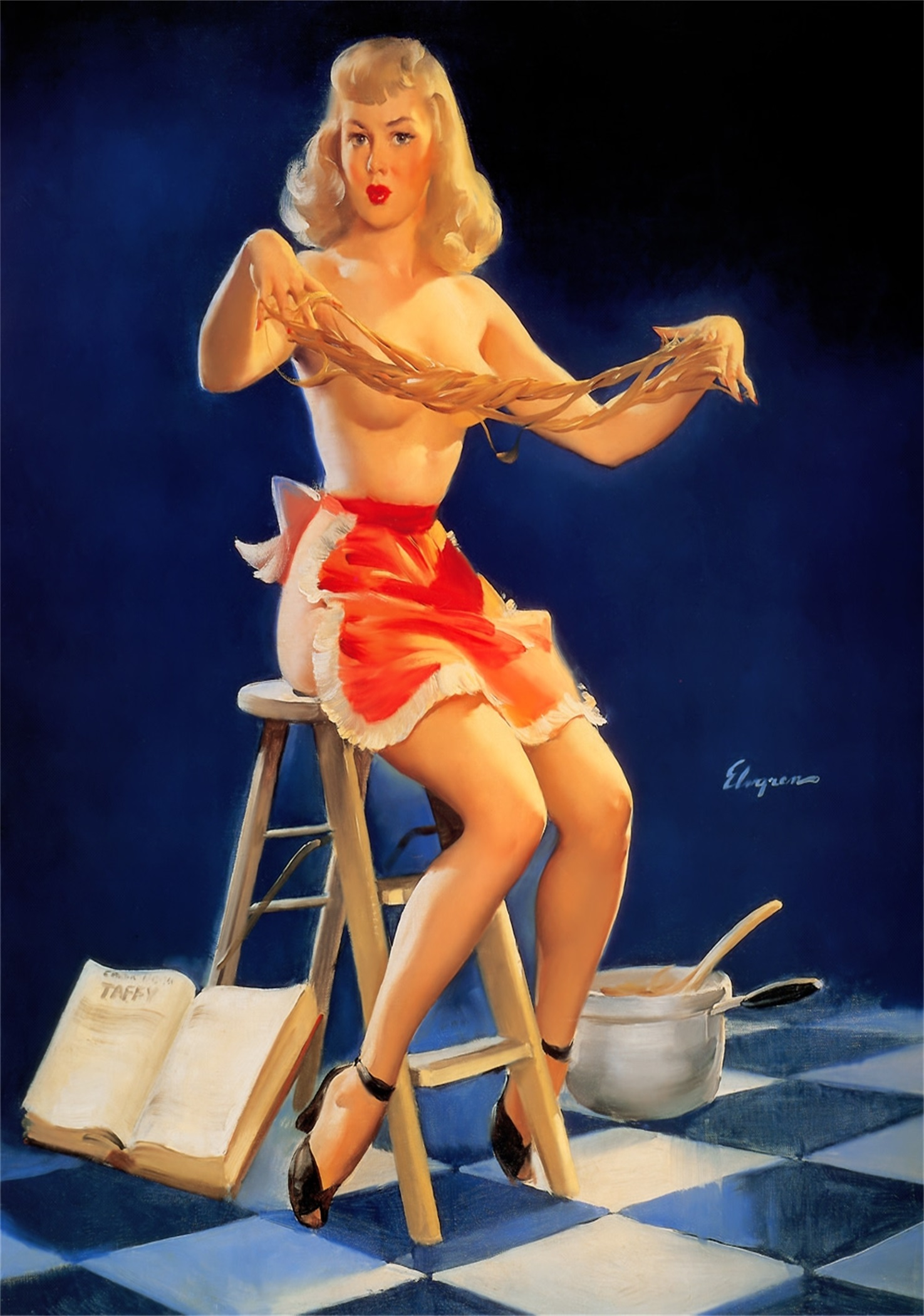 Teacher pin up girl you