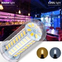 Oświetlenie kukurydza LED żarówka GU10 Led lampa E27 żyrandol Bombillas E14 świeca Lampara 24 36 48 56 69 72LEDs dekoracja do oświetlenia domu