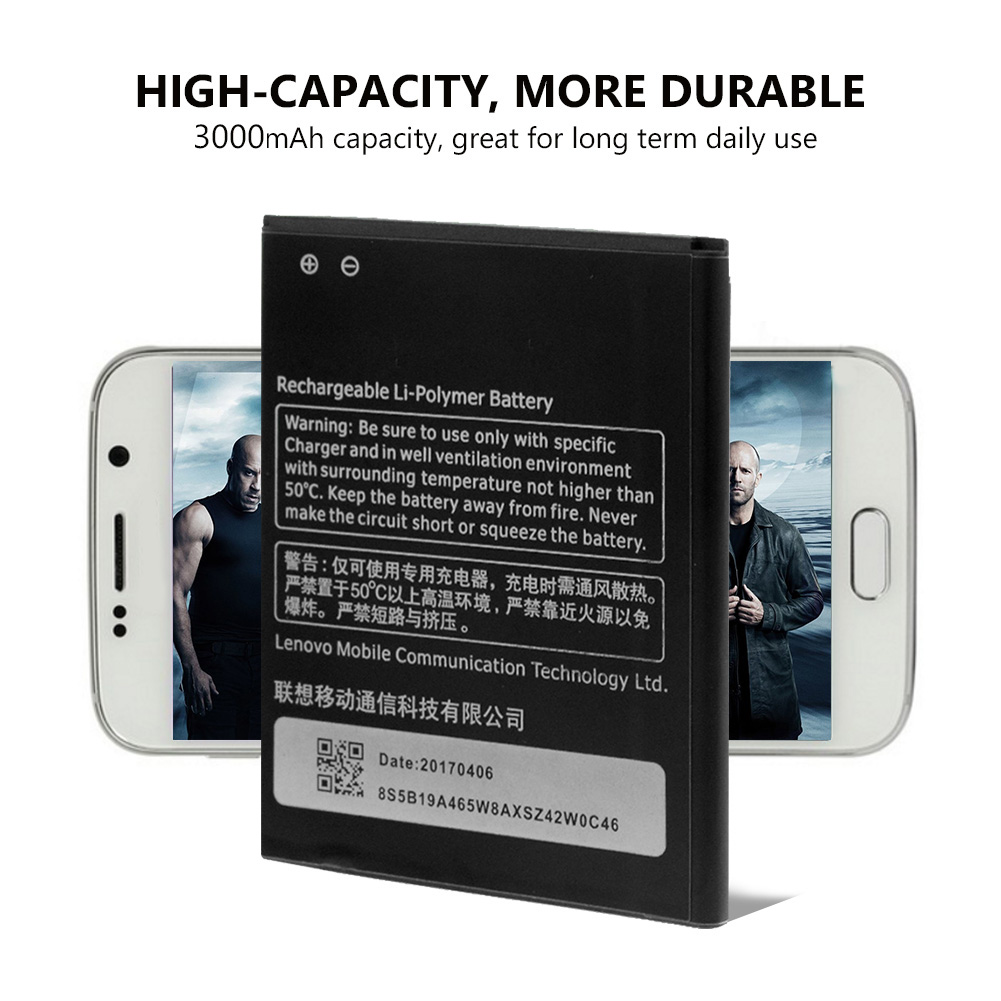YCDC High Capacity 3.8V 3000Mah Rechargeable Lithium Battery Phone <font><b>BL</b></font> <font><b>222</b></font> Battery BL222 <font><b>BL</b></font>-<font><b>222</b></font> For Lenovo S660 S668T image