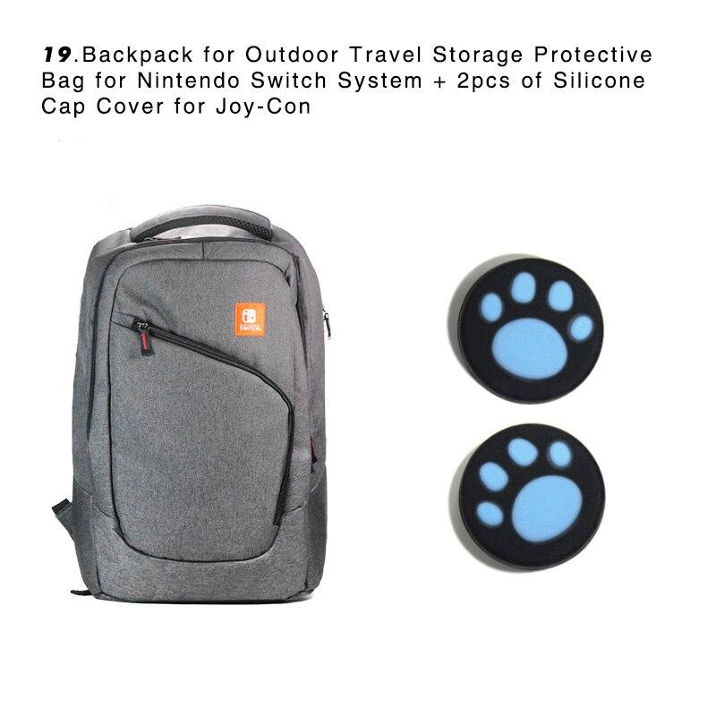 Vente groupée pour NS accessoires + système de jeu sac à dos pour voyage en plein air sac de protection pour Nintendo Switch System