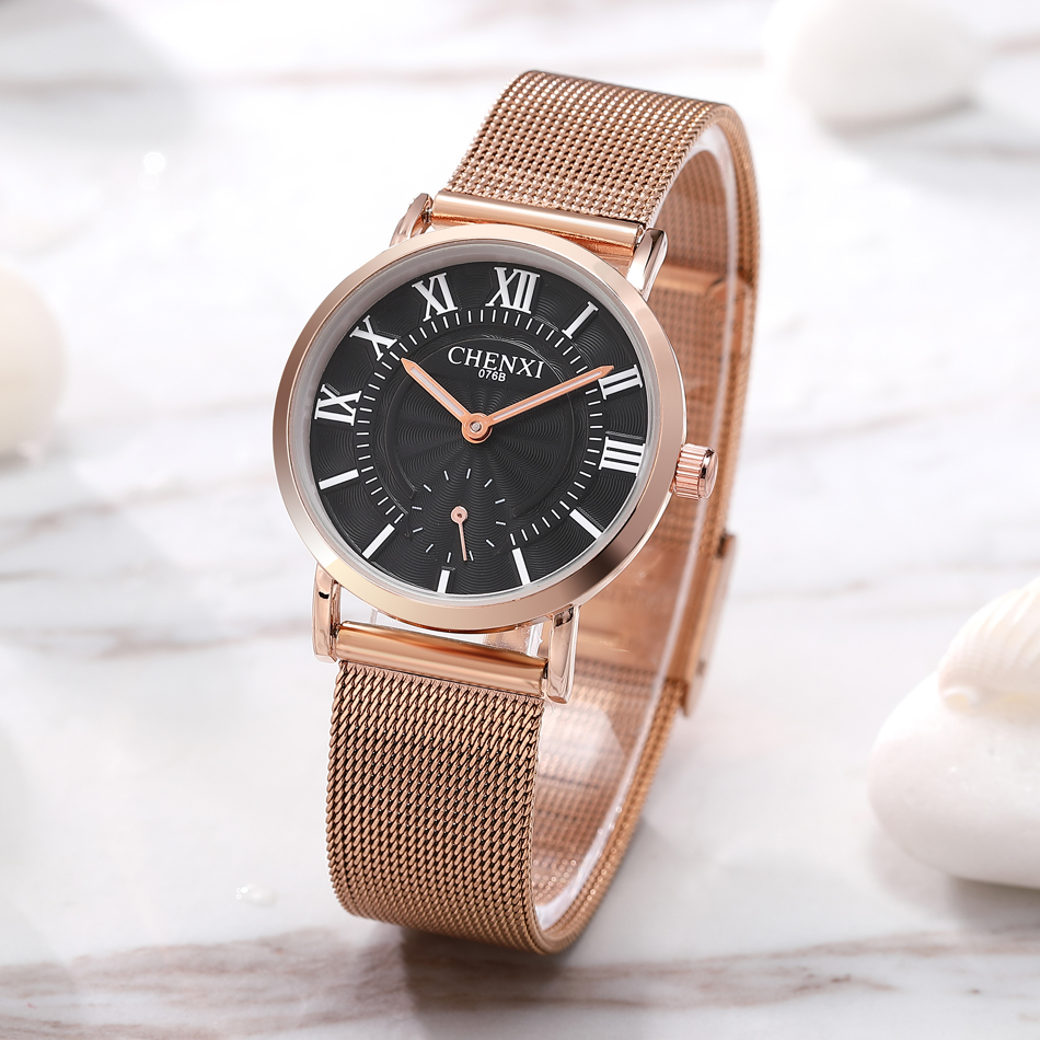 CHENXI New Fashion Brand Women Golden Quartz Watches Top  Luxury Female Jewelry Quartz-watch Clock Ladies Wristwatch 2018 Karachi