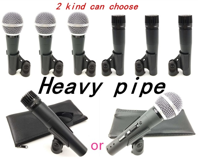 3 PCS! Hoogwaardige! Zware pijp! Clear Sound Handheld INSTRUMENT MICROFOON MIC SM 57 57LC SM57 SM57LC of SM 58 58LC SM58LC