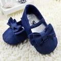 Elegante Chic Bowknot Zapatos Del Pesebre Del Niño Zapatos de Bebé de La Muchacha Suave Suela Prewalker
