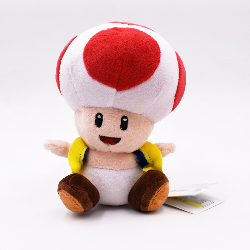17cm Super Mario Bros Toad Plush Stuffed Dolls Plush Toys Plush Toys Kids Soft Plush Toys For Children Kawaii Knuffel Peluche